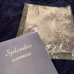 NWT Patterned Genuine Cashmere Shawl